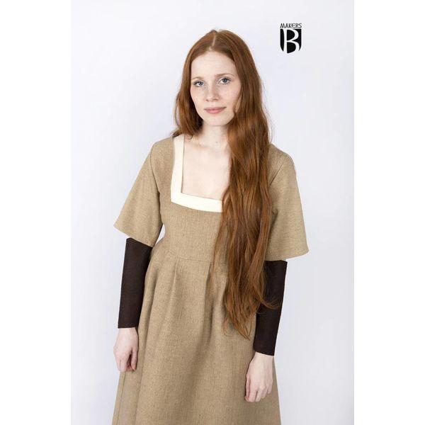 Burgschneider Ærmer Middelalderlige kjole Frideswinde brun