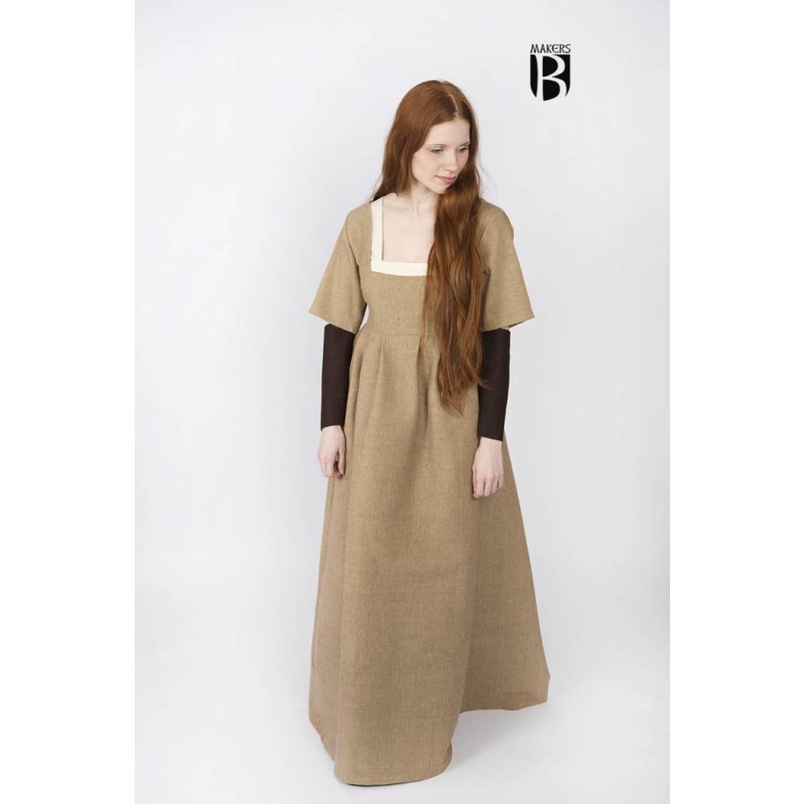 Burgschneider Mangas Vestido mediano Frideswinde marrón