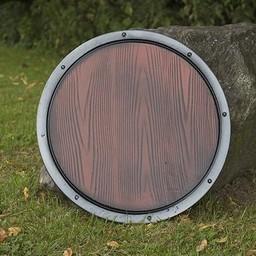 Gotowy do walki LARP drewniany okrągły tarcza