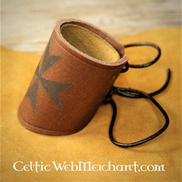 House of Warfare Leather Templar bracelet