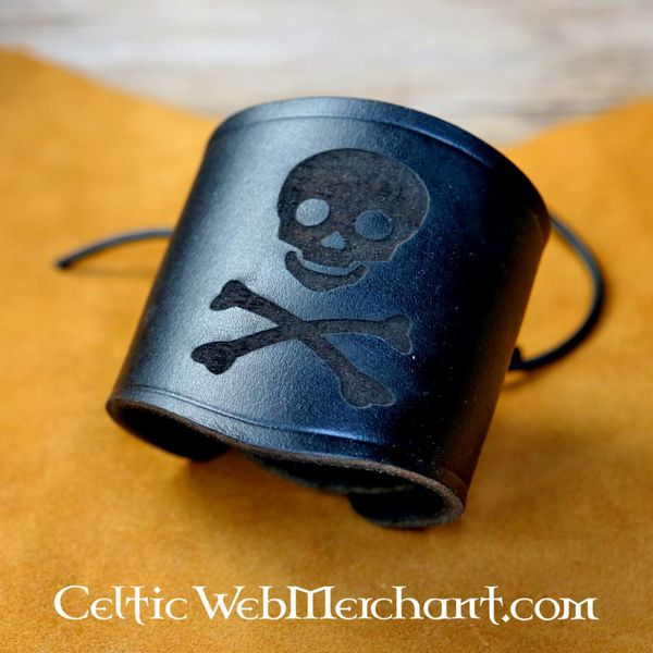 House of Warfare Leren piratenarmband Jolly Roger