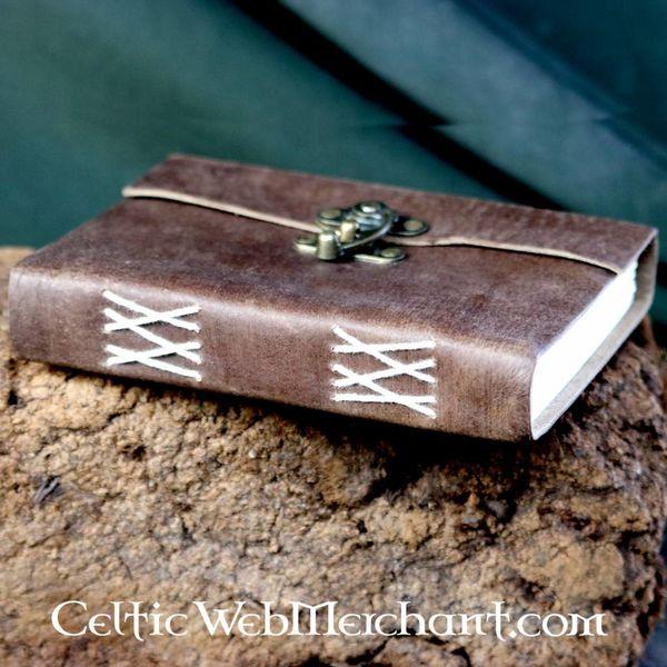 House of Warfare Skórzana, ręcznie oprawiona książka z zamkiem
