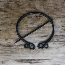 Burgschneider Kaproen vissegraatmotief Knud, zwart-grijs