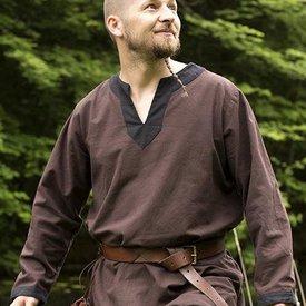 Epic Armoury Średniowieczny długi rękaw tunika brązowy