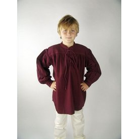 Chemise de garçon médiévale, noir, XXS, offre spéciale!