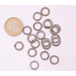 1 kg Flach unNieted Ringe, 8 mm