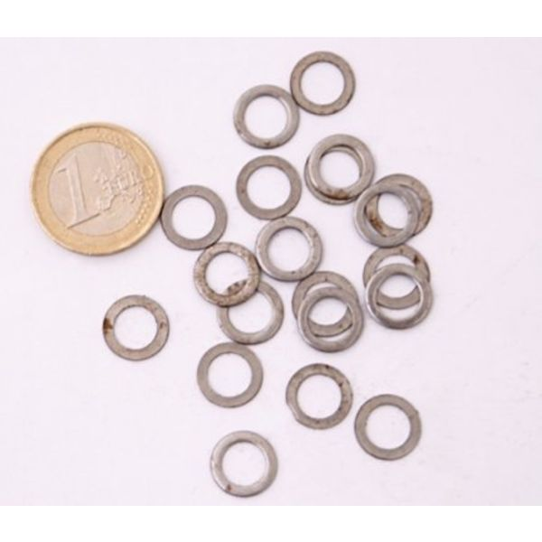 Ulfberth 1 kg flat unriveted rings, 8 mm