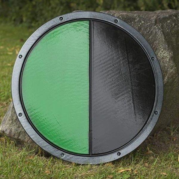 Epic Armoury LARP RFB rondschild zwart/groen