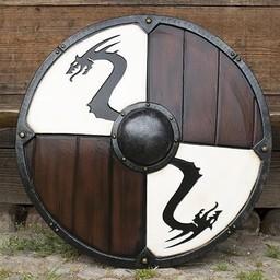 LARP Viking Drachen Schild weiß