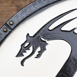 LARP Viking dragon shield white