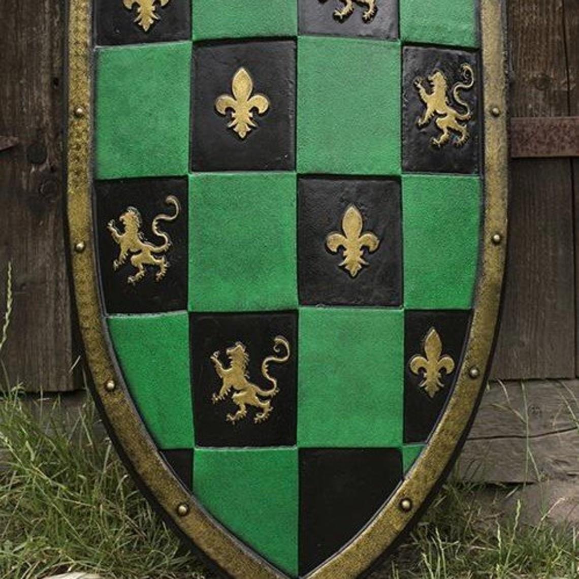 Epic Armoury LARP cuadros escudo verde / negro / oro
