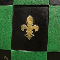 LARP Checkered Shield green/black/gold