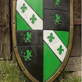 Epic Armoury LARP Lion Skjold grøn / sort / hvid