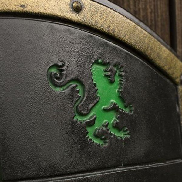 Epic Armoury LARP Lion shield green/black/white