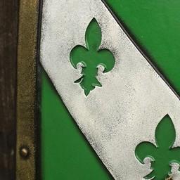 LARP Lion Schild grün / schwarz / weiß