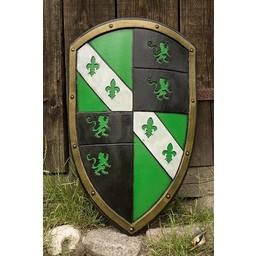 LARP Lion shield green/black/white