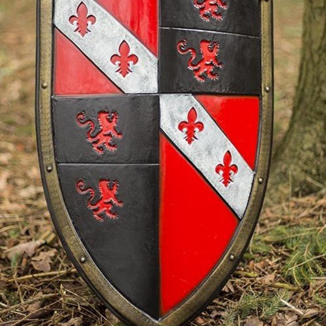 Epic Armoury LARP leeuwenschild rood/wit/zwart
