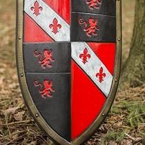 Epic Armoury LARP Lion Sköld röd / svart / vit