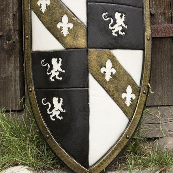 Epic Armoury LARP Lion Tarcza biały / czarny / złoty