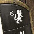 Epic Armoury LARP escudo del león blanco / negro / oro