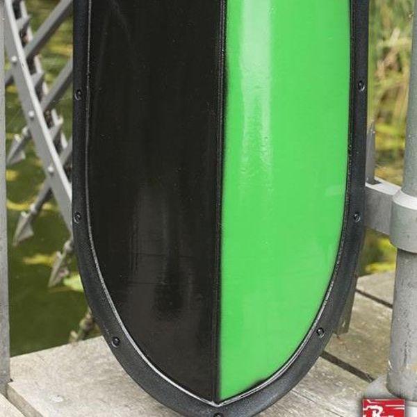 Epic Armoury Escudo de kite LARP negro / verde