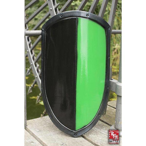Epic Armoury LARP kite shield black/green