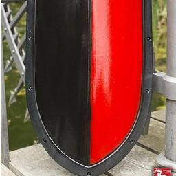 LARP kite shield black/red