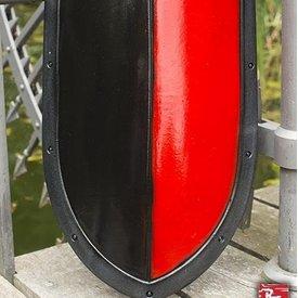 Epic Armoury escudo de lágrima LARP negro / rojo