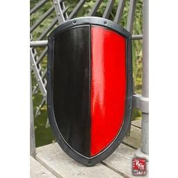 LARP latawiec tarcza czarny / czerwony