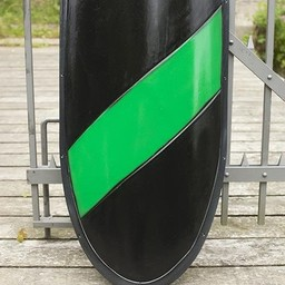 LARP knight shield black/green