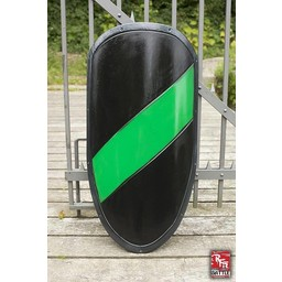 LARP rycerz tarcza czarny / zielony