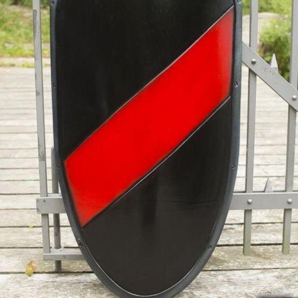 Epic Armoury LARP ridder SKJOLD sort / rød