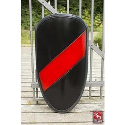 LARP knight Sköld svart / röd
