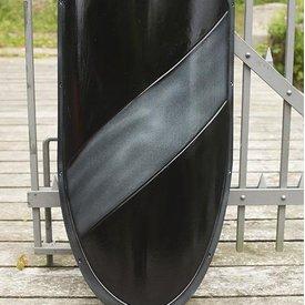 Epic Armoury Escudo de caballero LARP negro / plata