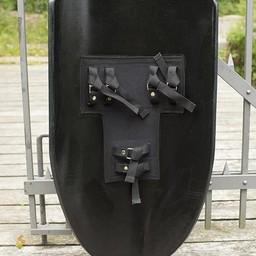 LARP Ritter Schild schwarz / silber