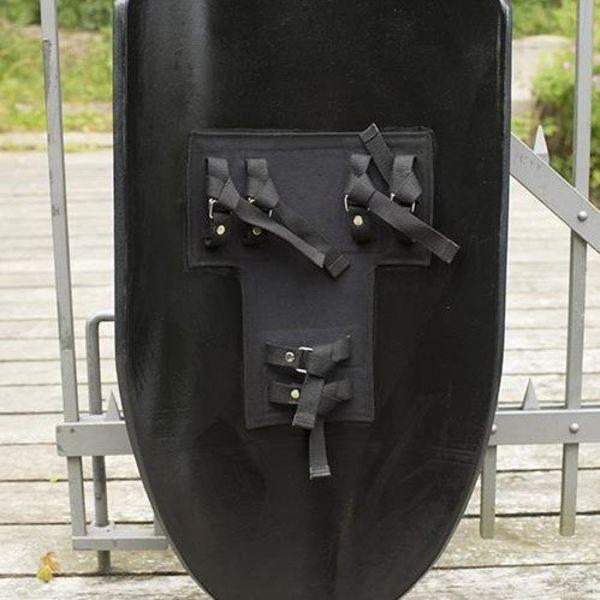 Epic Armoury LARP ridderschild zwart/zilver
