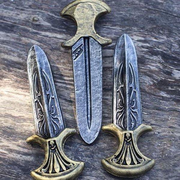 Epic Armoury LARP Assassin Inquisitor kaste knive sæt med 3 stykker