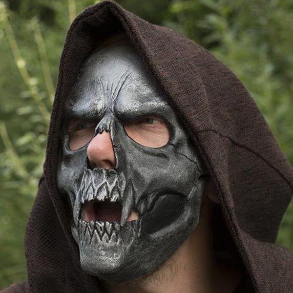 Epic Armoury Schädel Trophy Maske, Silber