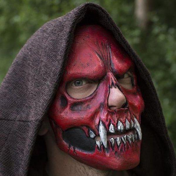 Epic Armoury Skull Trophy Mask, rød