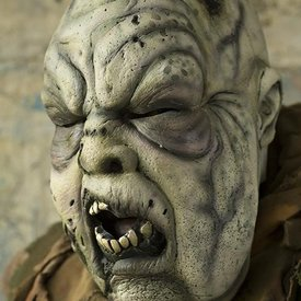 Epic Armoury Grå Grøn zombie maske