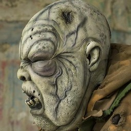 Grey Green Zombie mask