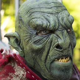 Bestial Orc Mask Green