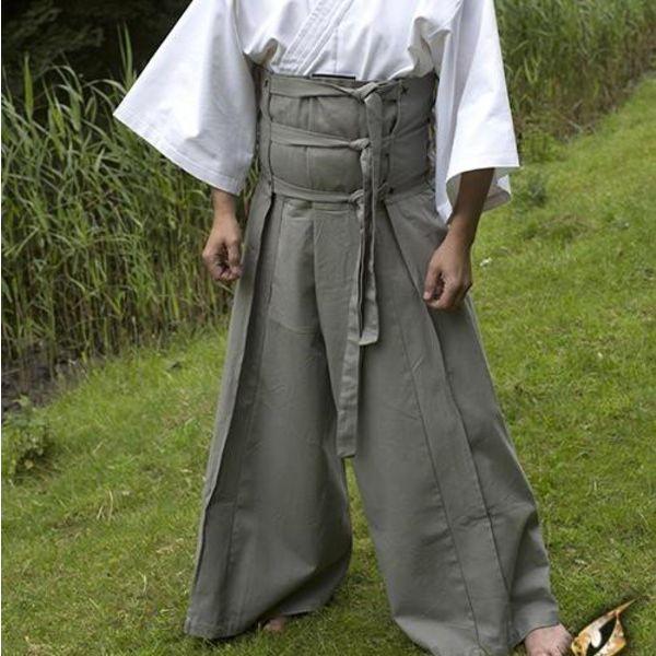 Epic Armoury calças de samurai, cinza