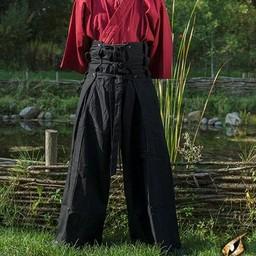 spodnie samurajów, czarny