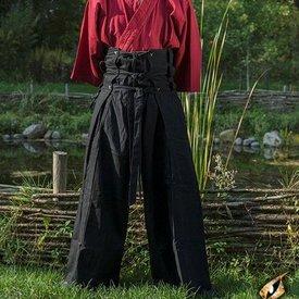 Epic Armoury calças de samurai, preto