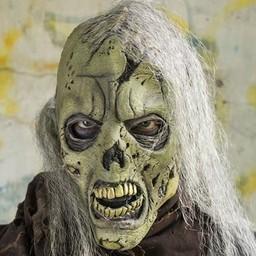 Zombie Maske mit Köpfchen