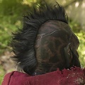 Epic Armoury Máscara roja Orco