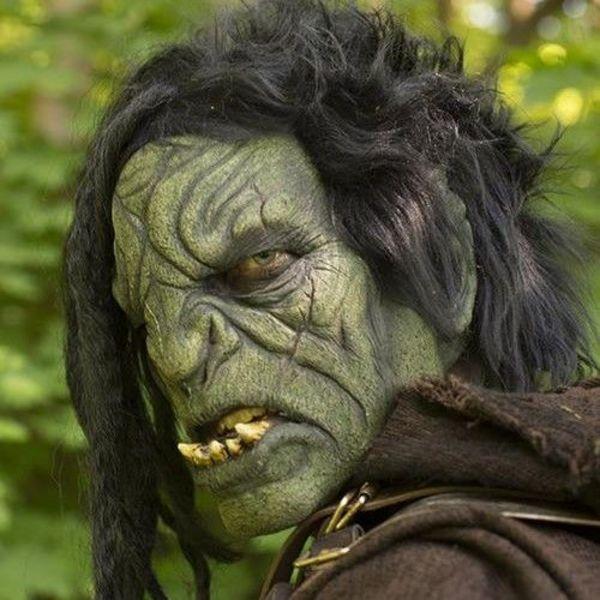 Epic Armoury Orc maske med hår
