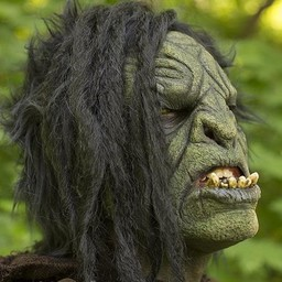 Orc mask with hair