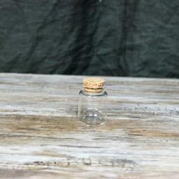 Round glass jar